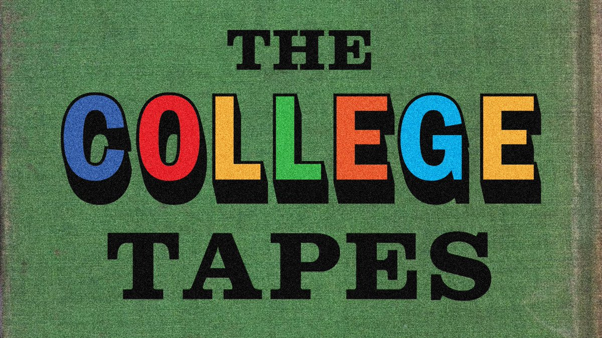 Have you listened to @thecollegetapes? All twenty episodes are available now on @hearluminary!  #TheCollegeTapes 📚