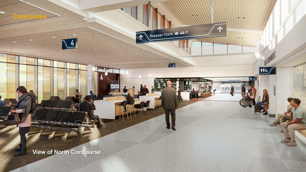 Thought we'd share a rendering of the new North Concourse at #LNK. The LNK NEXT terminal modernization project will begin construction Spring of this year. To learn more visit    #FlyLNK #FlyLocal #LNKNEXT