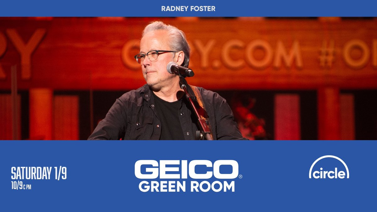 TOMORROW in the #GEICOGreenRoom, we've got one of Keith Urban's favorite songwriters talking hits and a singer's biggest fear. Head over to  after the Opry Live show to see an interview with Radney Foster! ⁠ @GEICO @RadneyFoster