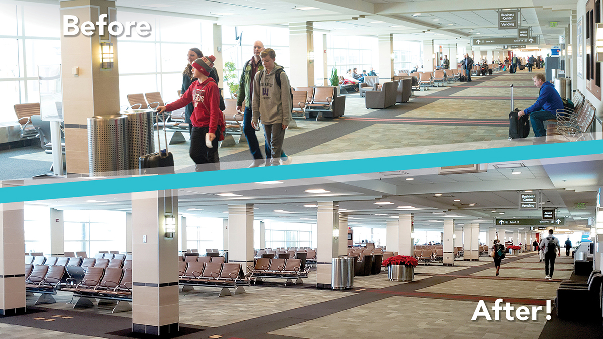 New Year, New Terminal! We are happy to announce that the Gate 8 and 9 seating area expansion has been completed!  You can find pictures of the gates as well as our new restrooms on our Flickr page:    #MSNAirport