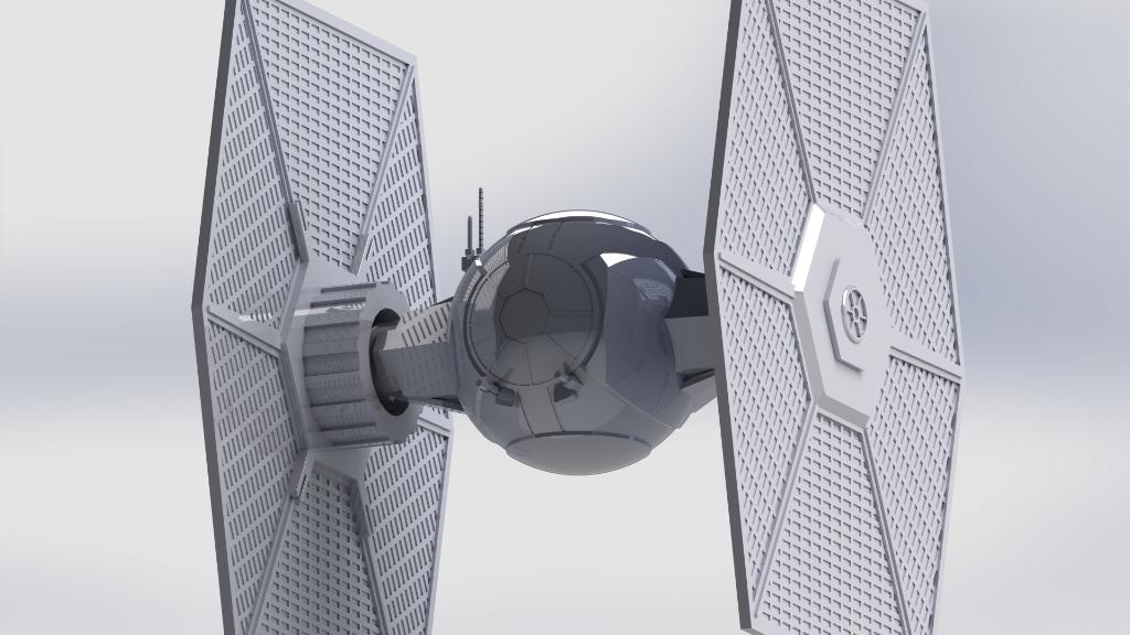 #StarWars fans, what do you think of this 3D First Order TIE fighter? It's entirely been designed by @CarlosMR09, who was keen to make this design as accurate as possible. We don't know about you, but we think the force is strong with this one! https://t.co/S4ecvPhYXQ