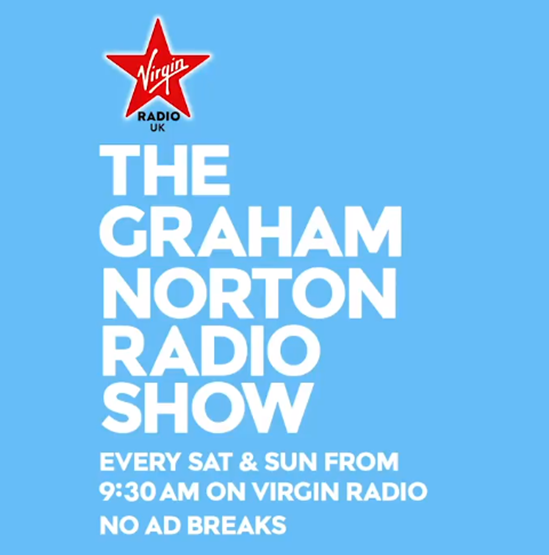 Graham Norton's brand new flagship weekend show for @VirginRadioUK  –  #TheGrahamNortonRadioShow – launches tomorrow at 9.30am on DAB, online, via app, and on smart speakers. Find out more: