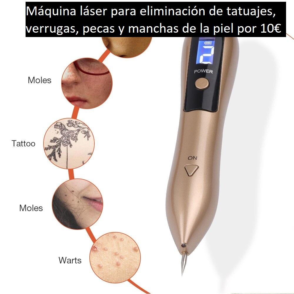 Máquina láser con LED 🌺  Elimina: tatuajes, pecas, verrugas... 🎲  Retira el punto sin sangre . . . #maquinalaser #eliminartatuajes #laser #eliminarverrugas #ManchasDeLaPiel #USB #tratamientos #intensidad #microordenador #LED