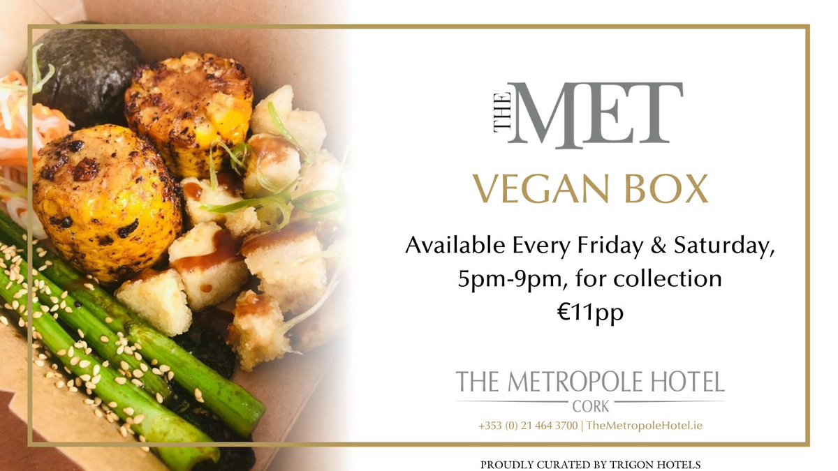 Are you trying #Veganuary2021? If so, Enjoy a treat with our Vegan Boxes every Friday and Saturday from 5pm-9pm! €11pp, available for collection. order now for this weekend! #cork #corkcity