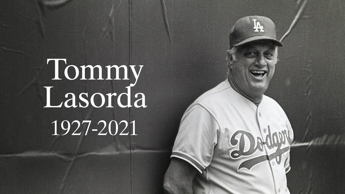 We mourn the passing of Hall of Fame manager Tommy Lasorda. He was 93.