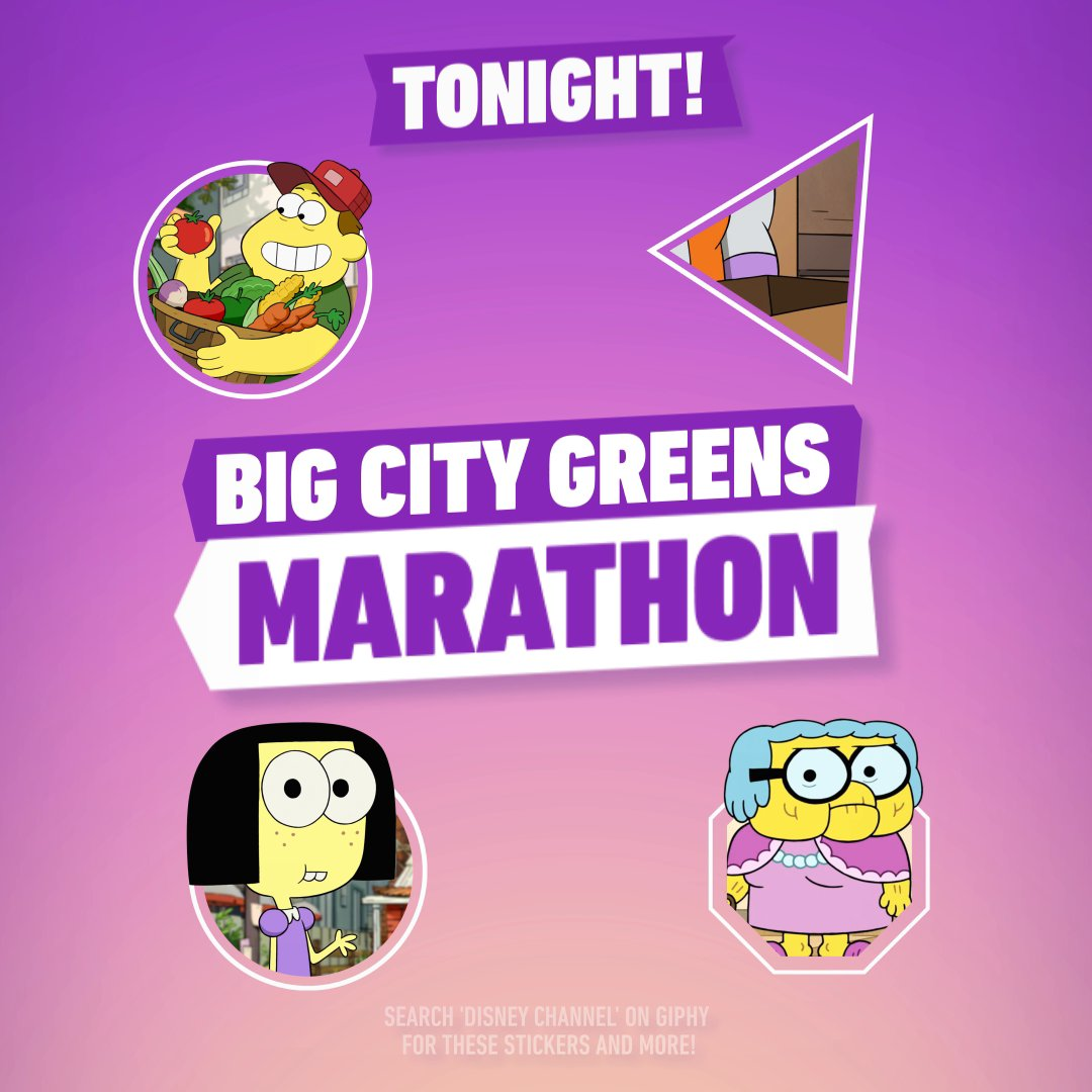 Bingo bango! We've got a #BigCityGreens marathon coming your way tonight 🚜 #WatchOnDisneyChannel