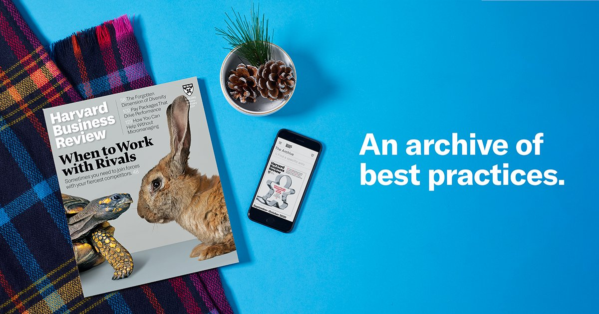 """Harvard Business Review on Twitter: """"With an HBR subscription, you can read  every issue of HBR, past and present. https://t.co/o7VPShEK8P… """""""