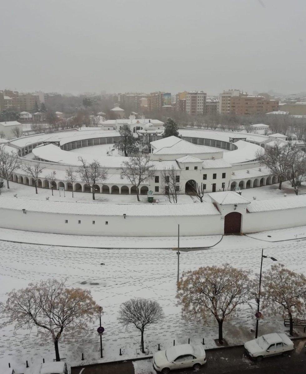 Que bonica se ve nuestra #Feria nevada.🤩😍