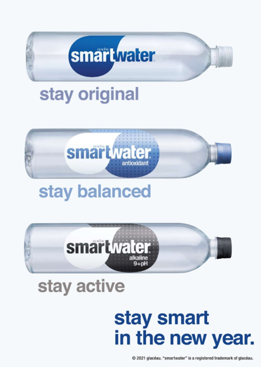 Stay smart this New Year with Smartwater!