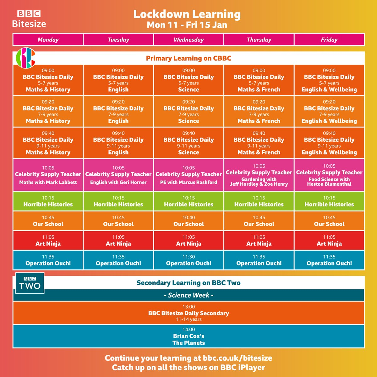Lots of educational shows on @cbbc to supplement @SmithdownPr home learning. #smithdownhomelearning #smithdownextra