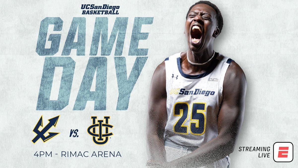 Division I is here!  🏀 vs. UC Irvine 📍 RIMAC Arena 🕓 4 pm 📺 ESPN3 🎙 @SteveQuis1 & @TedMendenhall  💻 https://t.co/RgG4ILizqz 📊 https://t.co/RxMiOEtiSv #️⃣ #GoTritons https://t.co/J5SC6q2tnU