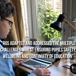 """Image for the Tweet beginning: """"RGS has adapted and addressed"""
