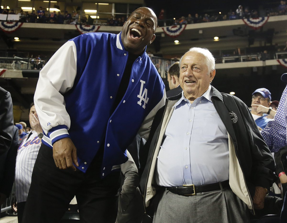 Hall of Fame Dodgers Manager, LA icon, and my great friend Tommy Lasorda passed away late last night. For the last 8 years I've sat next to Tommy at every Dodgers game and he taught me invaluable lessons on the strategy and history of baseball.