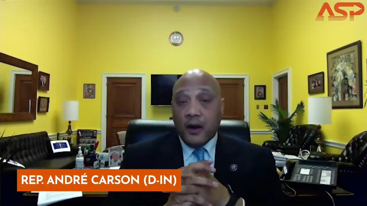 """""""The 25th amendment removes any President who has demonstrated that he or she is unfit to serve as Commander in Chief."""" Listen to @RepAndreCarson explain why lawmakers are calling to invoke the amendment & remove President Trump from office. Watch here 👉"""