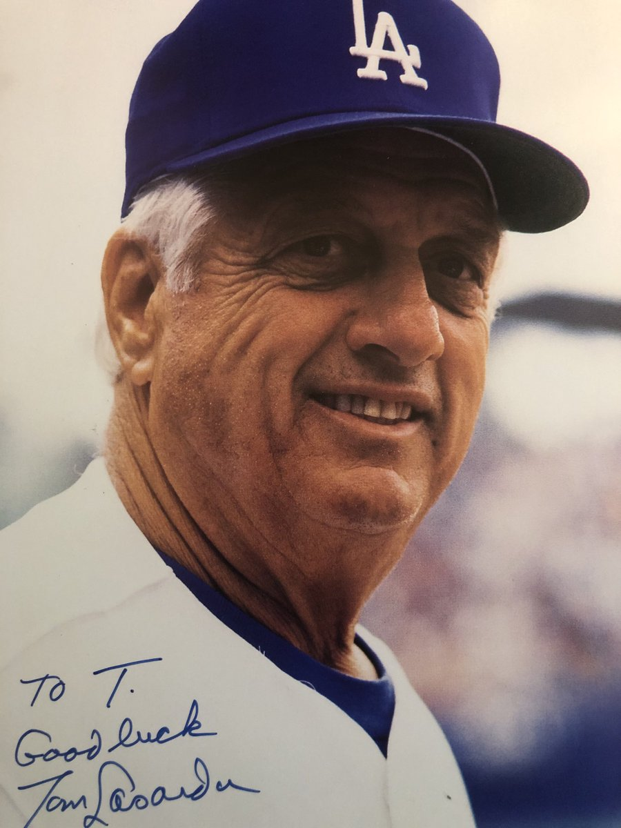 Long story: Once drove around Cleveland with Lasorda during All-Star events in '97. Quality guy.  RIP to a Dodger legend.