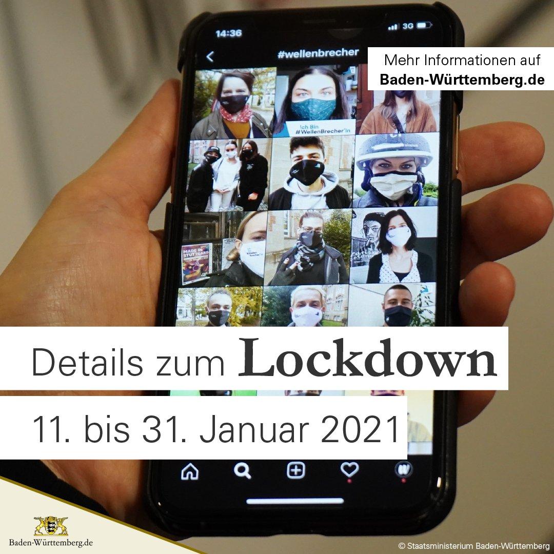 Verlängerung und Verschärfung des Lockdowns in #BadenWürttemberg: Die bisherigen Maßnahmen bleiben bestehen, ab 11. Januar gibt es weitere Verschärfungen im ganzen Land.  #CoronaBW #CoronaVirusDE #Lockdown #ltbw