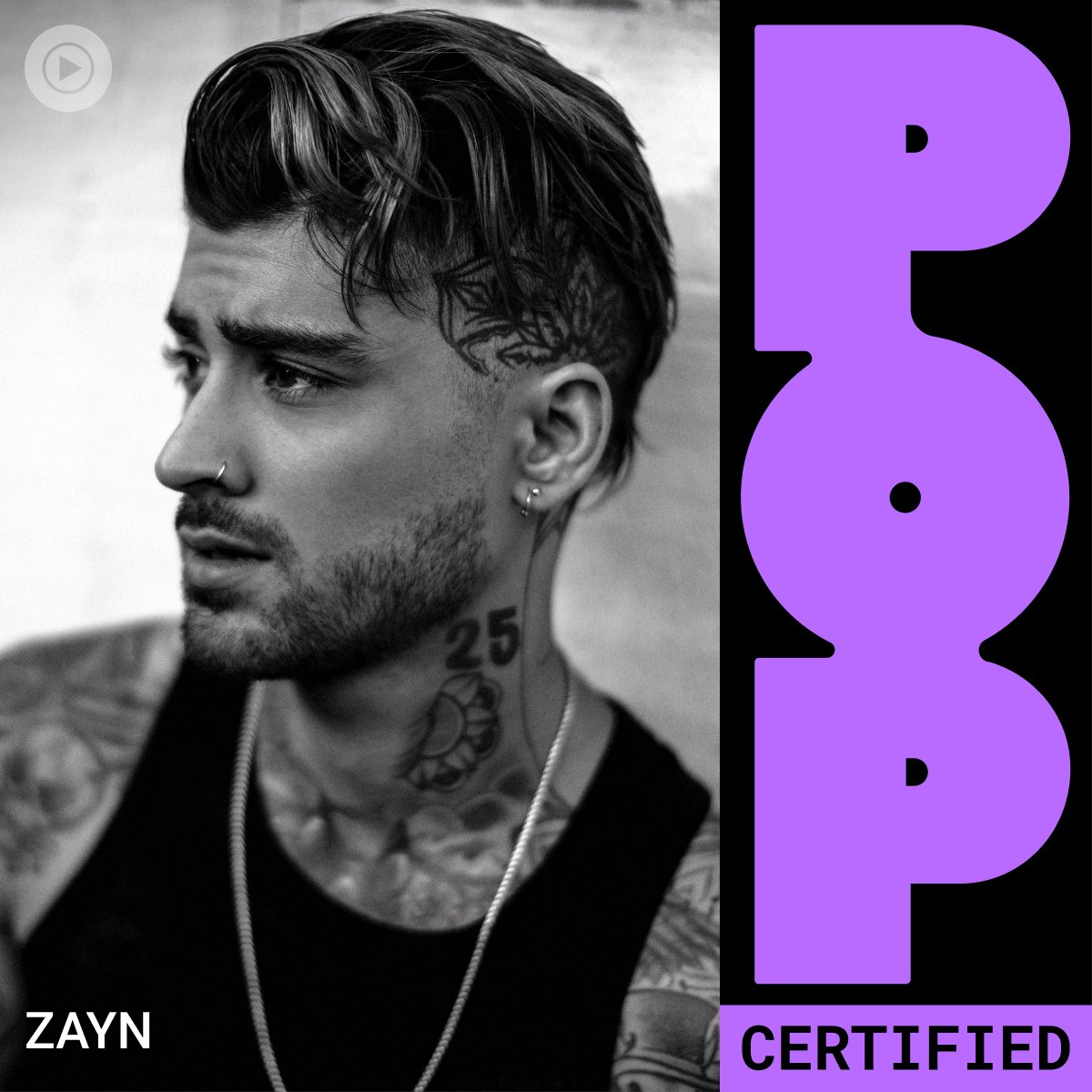 ZAYN ON THE COVER OF @YOUTUBEMUSIC'S POP CERTIFIED PLAYLIST //
