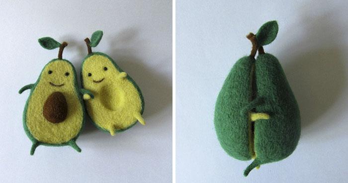 ウクライナ人の作ったフェルトのアボカド人形!とっても可愛い!
