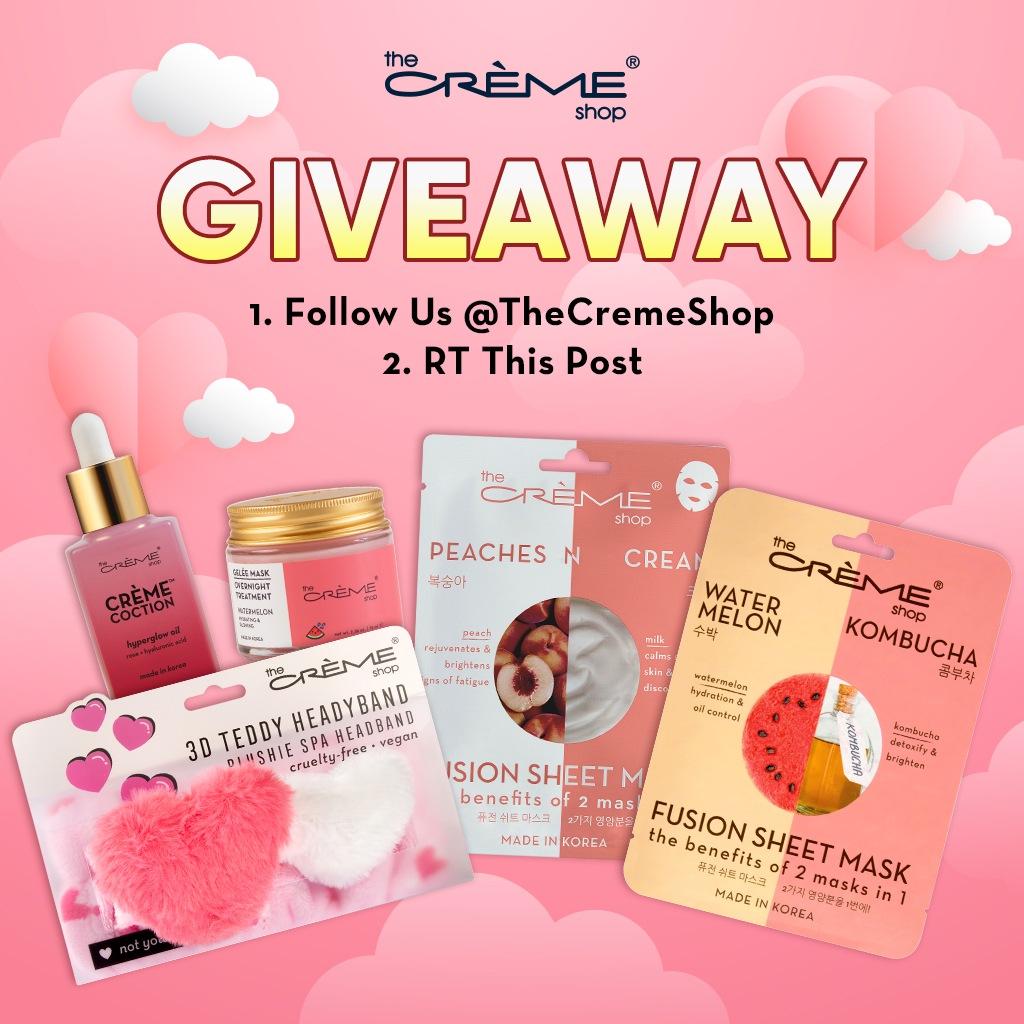 THE SWEETHEART GIVEAWAY 💕✨  HOW TO ENTER: 1. follow us @thecremeshop 2. RT this post  we will DM the winner next wednesday! share this post daily for more entries 😉  discover more goodies here:
