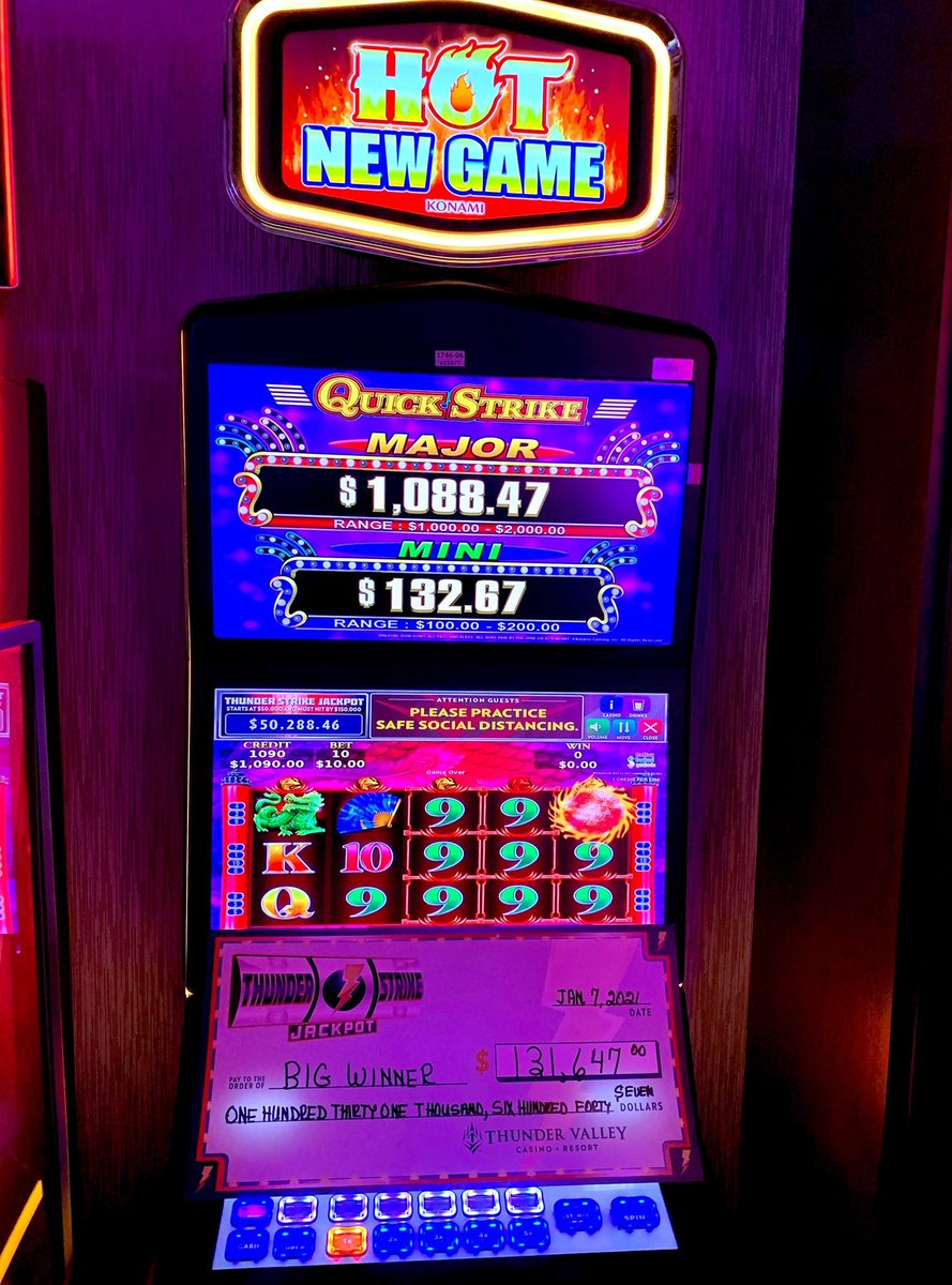 Congratulations to the first Thunder Strike winner of the year!  💴🤑🎰 The lucky winner took home a massive jackpot of $131,647!
