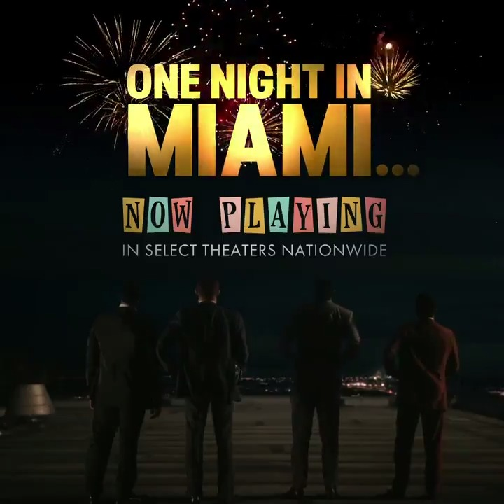 #OneNightInMiami directed by @ReginaKing is gracing the silver screens for a limited time! Streaming on @PrimeVideo January 15.