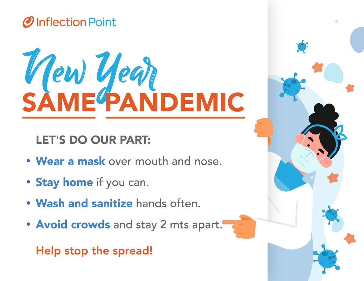 New year, the same pandemic! Let's do these simple steps so we can help stop the spread. 😷 #WeAreIPS https://t.co/dHd37U8e88