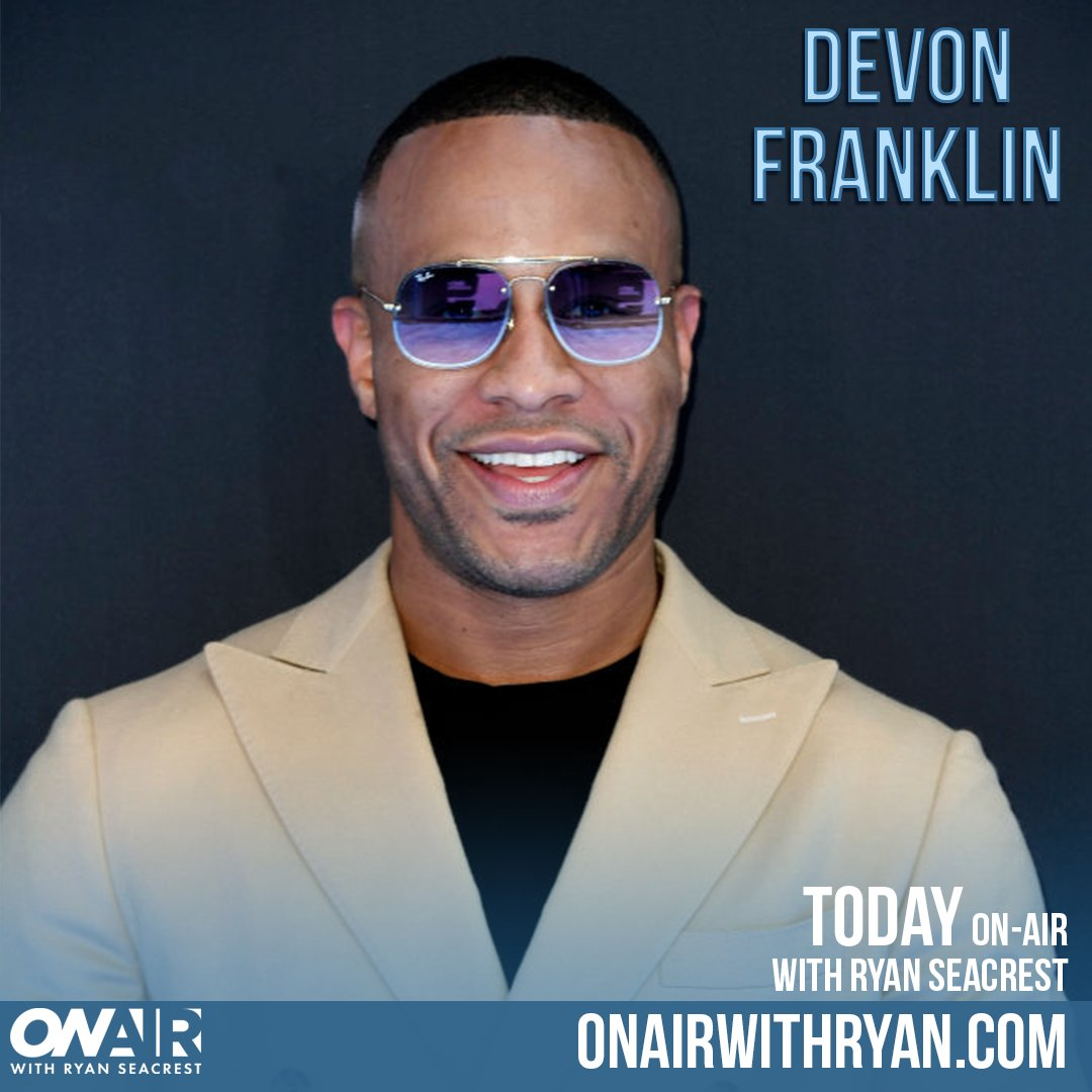 """""""I don't believe in new year's resolutions... I believe in a new you resolution."""" If you're already feeling discouraged by your #NewYearsResolution, you need to hear @DeVonFranklin's interview with @OnAirWithRyan"""