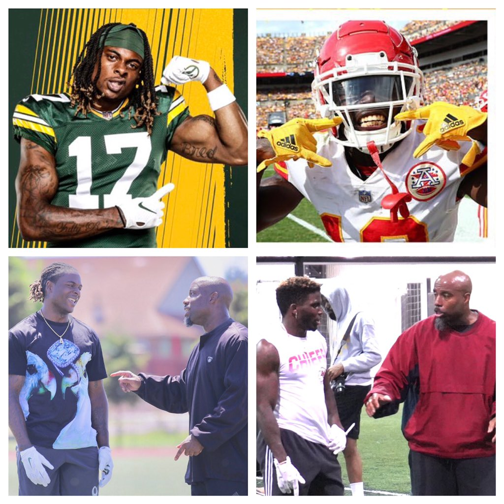 Congrats to the nephews Tae @tae15adams and Reek @cheetah for making 1st Team ALL PRO... ... That's not a bad X & Z in the same huddle.  #keepplaying #WideOutFamily #W4L 🦍👐🏾