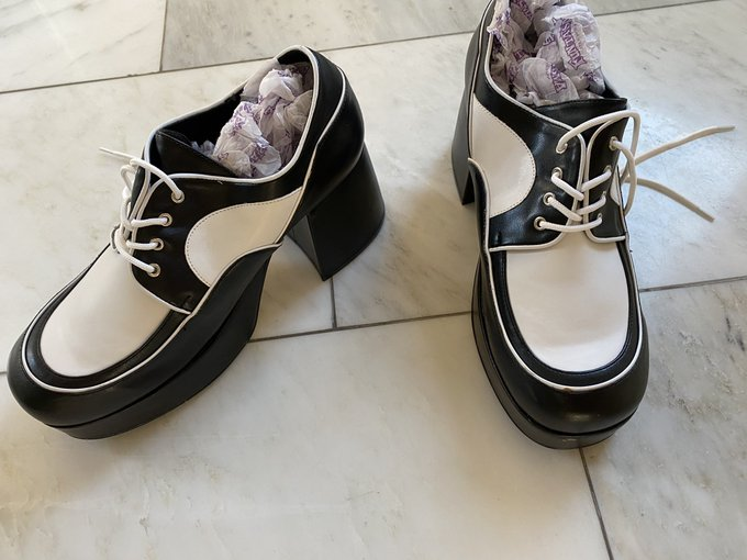 Any industry people want these crazy shoes?  You can have them for free. I wore these once in a sex scene