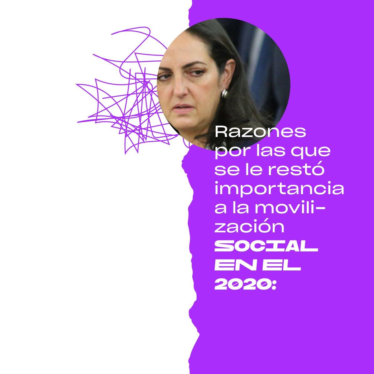Según #HablemosDeMovilización, informe de @MutanteOrg, las personas no salieron a protestar por tres razones principales en 2020. La frase de la senadora @MariaFdaCabal sigue estigmatizando la protesta.  Algunxs de nuestrxs senadorxs no entienden: la protesta construye democracia