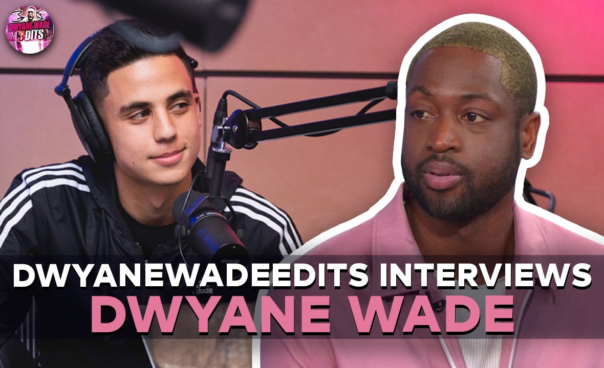 In 2012, I started a fanpage on Instagram for Dwyane Wade. I stayed with it.   In 2019, Dwyane got me tickets to a Heat Game, and I met him.   In 2021, Dwyane reached out and wanted me to interview him for all his fans to see.   If this doesn't say a lot about him, idk what does.