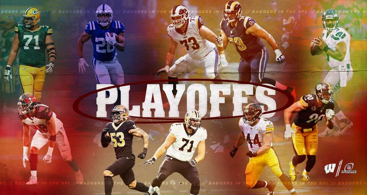 It's @NFL Playoffs time!   Pumped to watch all of our #ProBadgers ball out   WATCH 📱: NFL app // Yahoo Sports app:   #NFLPlayoffs || #OnWisconsin
