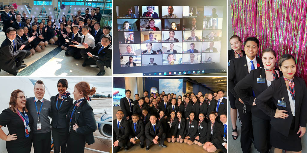 Graduates leave our #FlightAttendant program job-ready, with credentials such as Advanced First Aid, Serving It Right, and Food Safety Certification. The program is only 12 weeks long and has several intakes throughout the year!