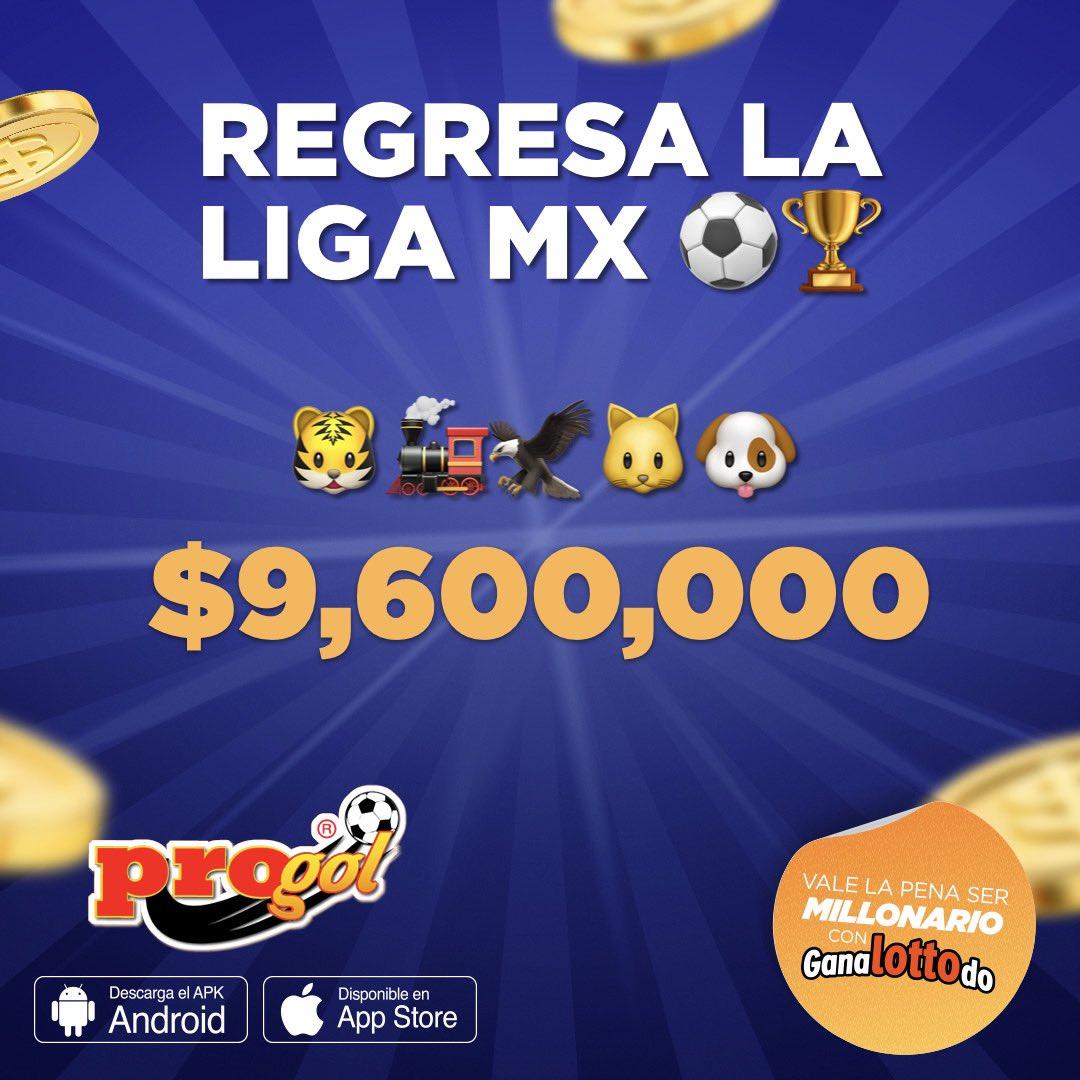 Regresa la #LigaMX y tus partidos preferidos están en Progol ⚽️⚽️ $9️⃣,6️⃣0️⃣0️⃣,0️⃣0️⃣0️⃣ en la 💰 https://t.co/ji5ZfNwmQn https://t.co/uLxuJeByTJ