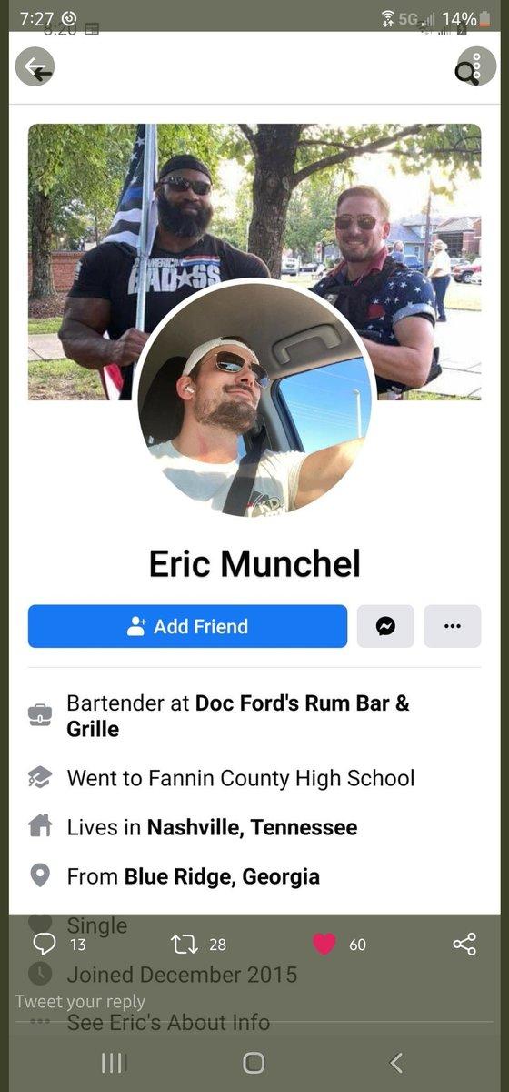 Hey all, say hi to Eric Munchen of Nashville TN, the Zip Tie Guy from the Capitol invasion. Congrats to @FugenFerdi, @sparrowmedia @jsrailton @ashencinder @WilliamTurton &c for great work. Attn: @AntiFashGordon @AntifaGarfield @RoseCityAntifa @RuthlessWe @WhiteRoseAFA