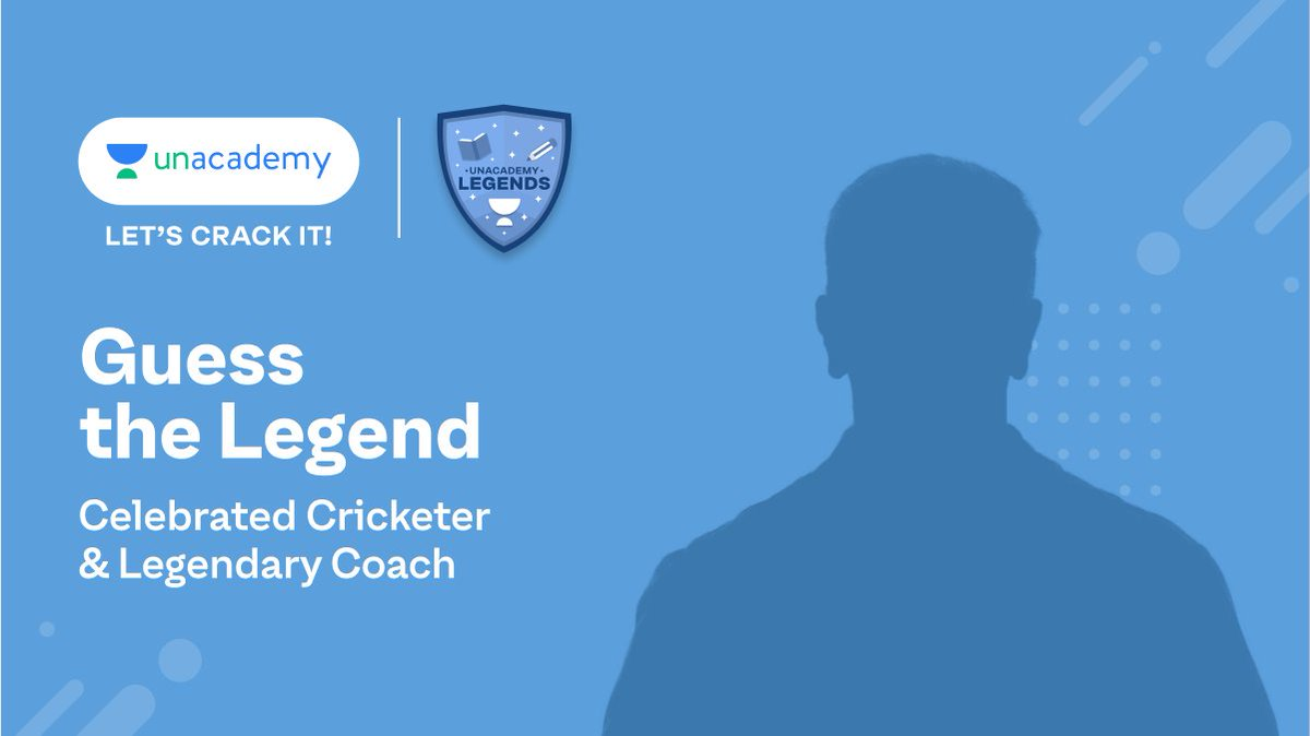 Can you guess the name of this legendary cricketer? He's all set to motivate you to chase your dreams with persistence and hard work. #LegendsOnUnacademy