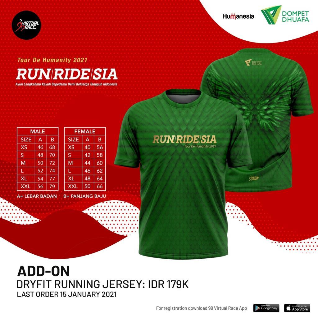 Running Jersey 👕 RUNRIDESIA • 2021