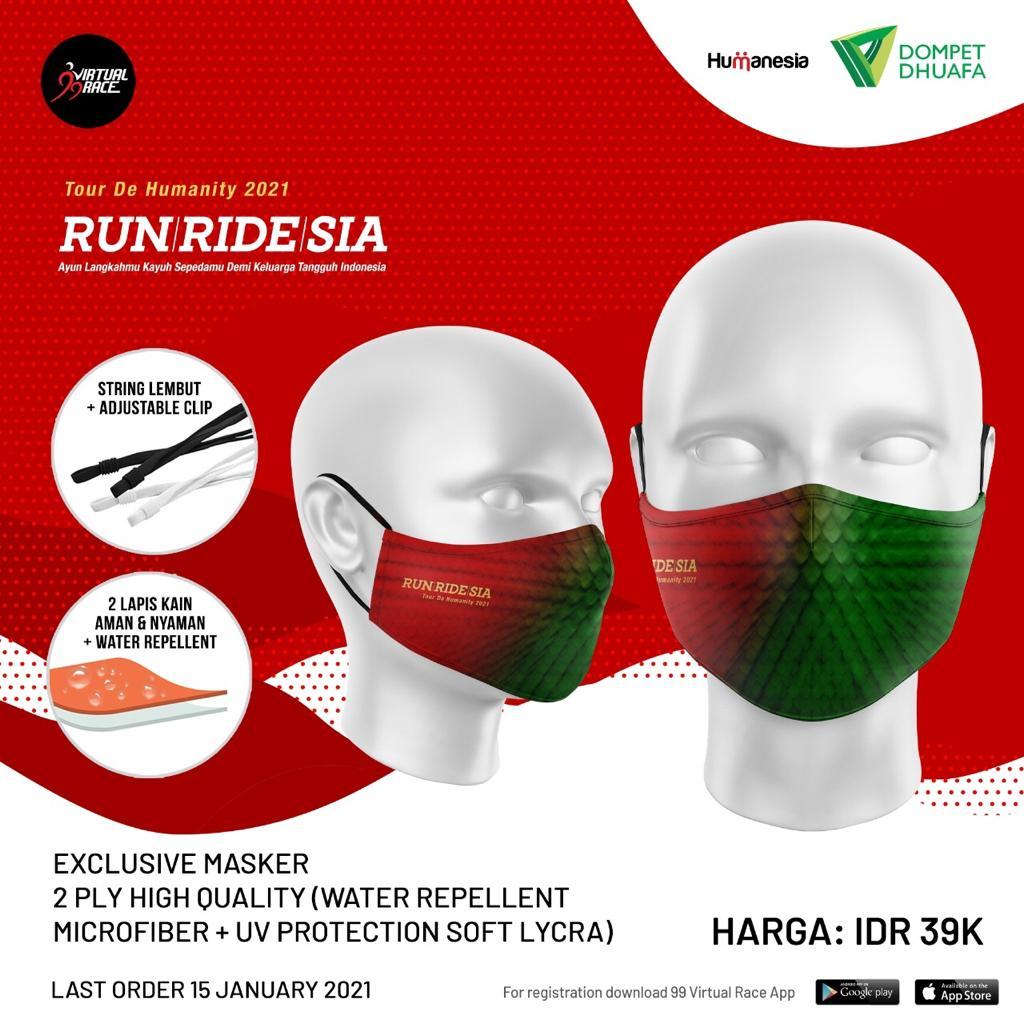 Exclusive Masker 😷 RUNRIDESIA • 2021