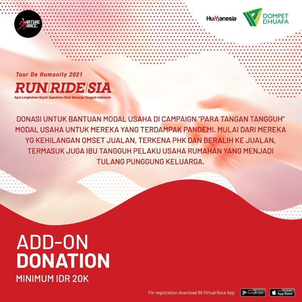 Donation 💌 RUNRIDESIA • 2021