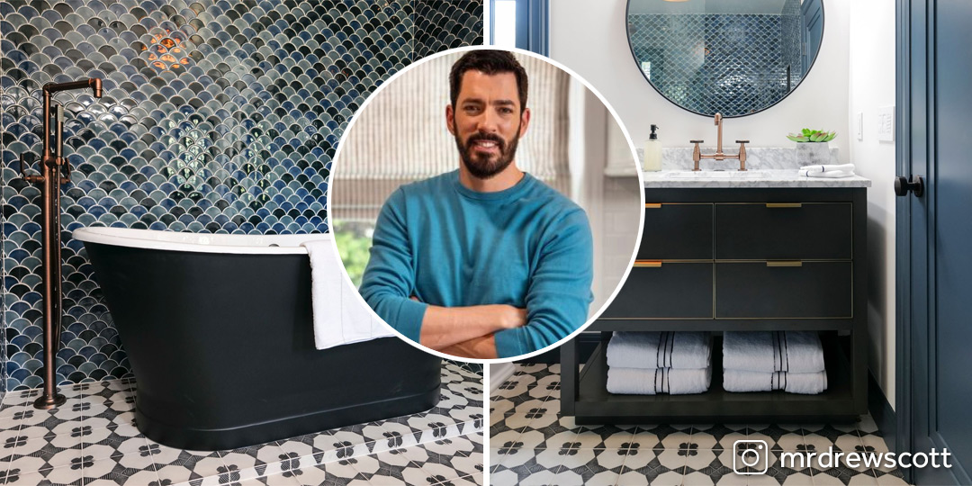 Using our Edison Tub Filler and Edison Faucet with our Kateryn Cast Iron Tub, the Property Brothers make an eye-catching upgrade to modernize this bathroom. The verdict? Dark blue is in, and warm metals go so well with it. Shop tub and faucets: https://t.co/R0r6d2I0TE #dreambath https://t.co/qfFfxQw9f7