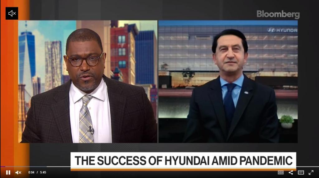 """Our President and CEO, José Muñoz, was on @BloombergTV's """"The Close"""" to discuss our great year-end results and our plans to go all #electric. Watch the clip here:"""