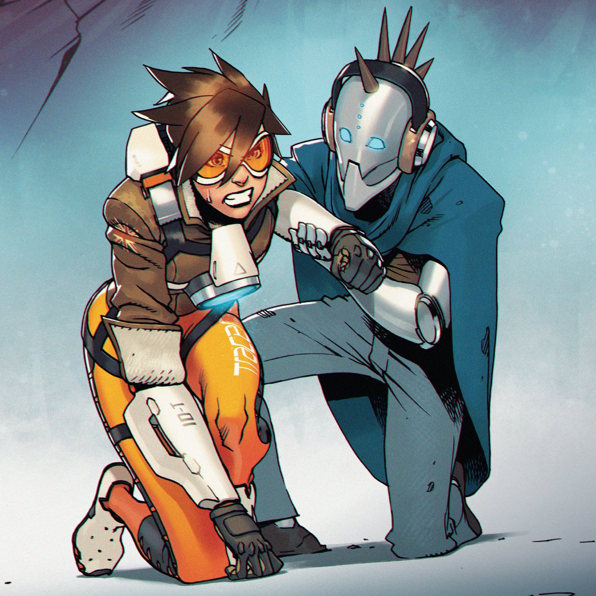 Back in the fight!  TRACER-LONDON CALLING 4 from @DarkHorseComics lands into your hands on Jan 13th, but here's a sneak peek at the cover art.