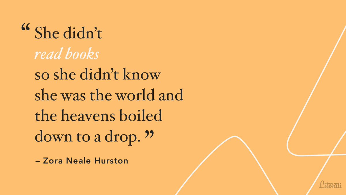 HBD to the late author of Their Eyes Were Watching God, Zora Neale Hurston. 🎂