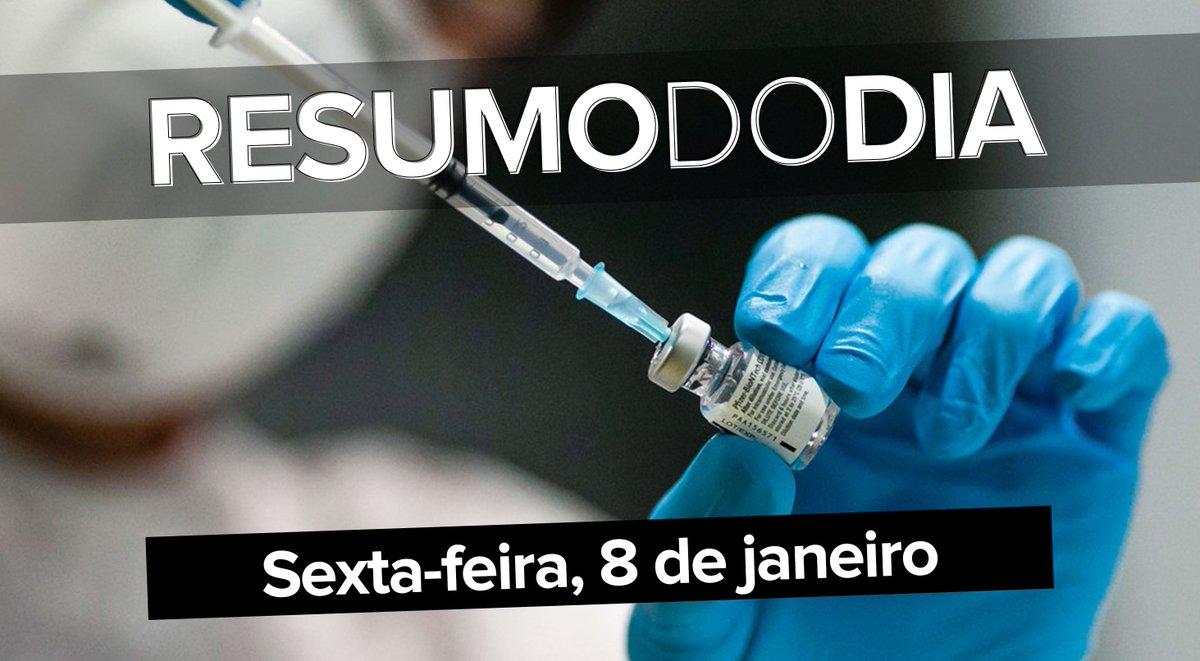 Brasil passa dos 8 milhões de infectados com a Covid-19, Butantan e Fiocruz pedem aval da Anvisa para o uso emergencial das vacinas CoronaVac e de Oxford, e perfil de Trump é tirado do ar pelo Twitter; veja o que foi notícia hoje ==>  #G1 #ResumoDoDia