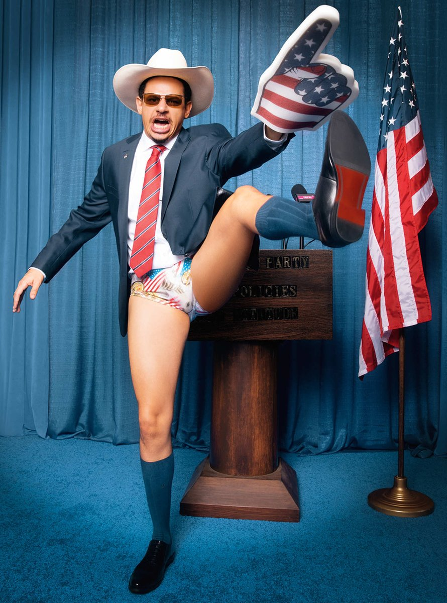""""""" @ericandre for President"""" hits different in 2021 🇺🇸 photographed by @millicenthailes  Revisit the article:"""