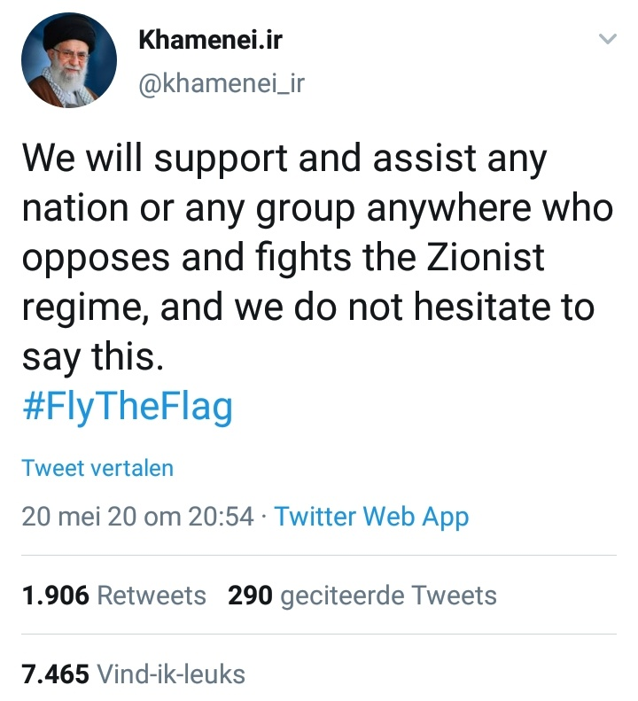 But the Islamist dictator who talks about annihilating Jews is allowed to tweet. https://t.co/iAh2LyeVHV