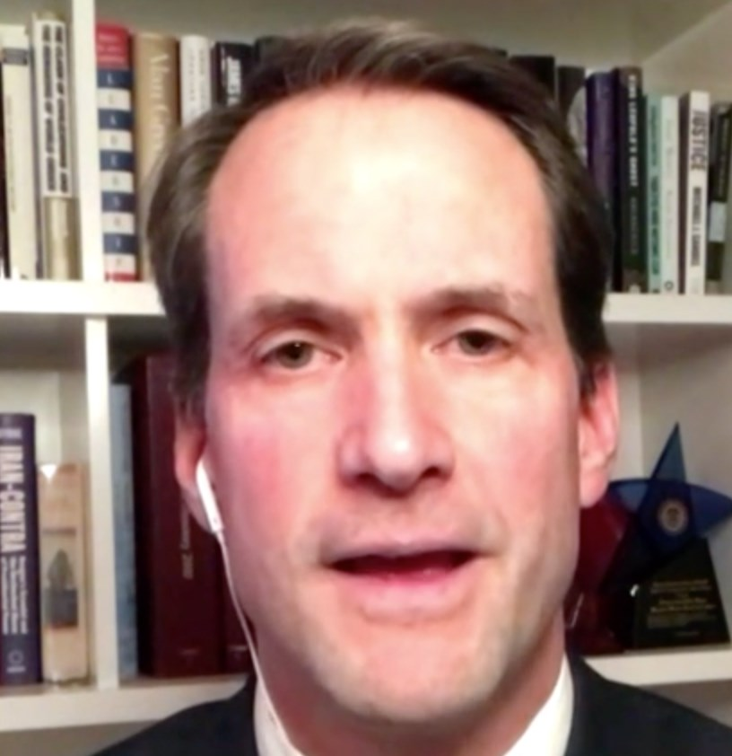 """This is a man who still is in charge of American nuclear forces. He is still the most powerful man on the planet, and guess what, I bet he's more than a little grumpy right now,"" says Rep. Jim Himes of Trump.  ""His Twitter has been taken away but what about the nuclear trigger?"""