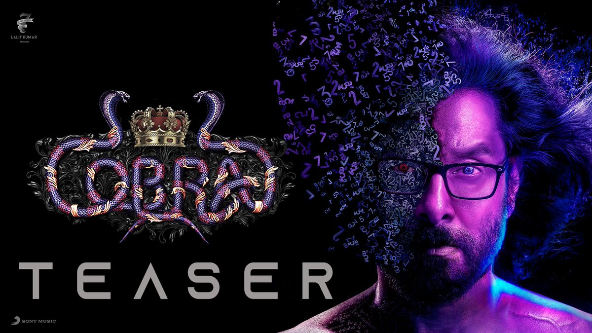 All the calculations finally make sense ! 🔢  Presenting #ChiyaanVikram's  intriguing #CobraTeaser 🔥 ➡️    @AjayGnanamuthu @arrahman @Lalit_SevenScr @7screenstudio @IrfanPathan @SrinidhiShetty7 @SonyMusicSouth  #Cobra