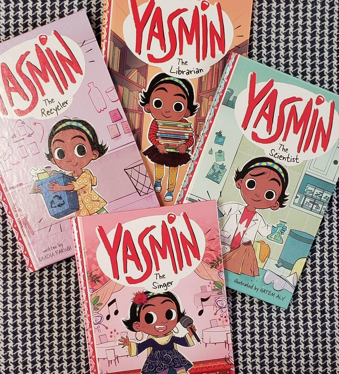 Its a GREAT day in Twitterland and Im celebrating by giving away 5 hardcover copies of the new Yasmin titles. Yup, 5!! Follow me, like and RT for a chance to win. Ends Sunday night. USA only.