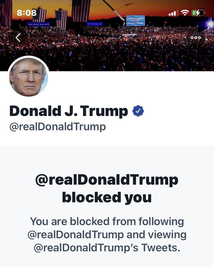 Even after his suspension, I'm still blocked.